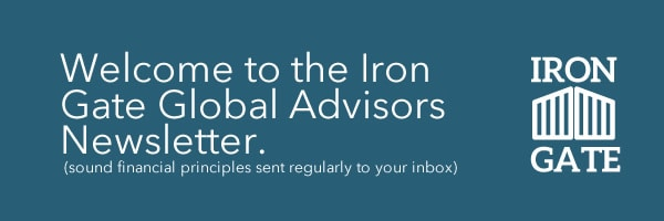 Welcome to the Iron Gate Global Advisers Newsletter.