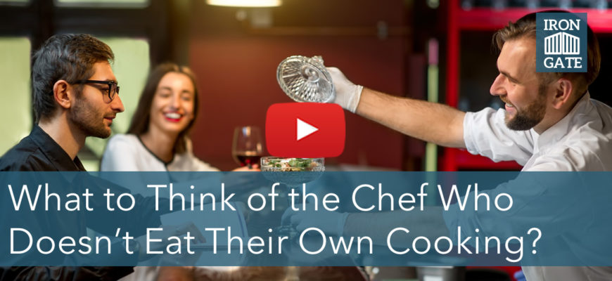 Does Your Financial Advisor Eat Their Own Cooking?
