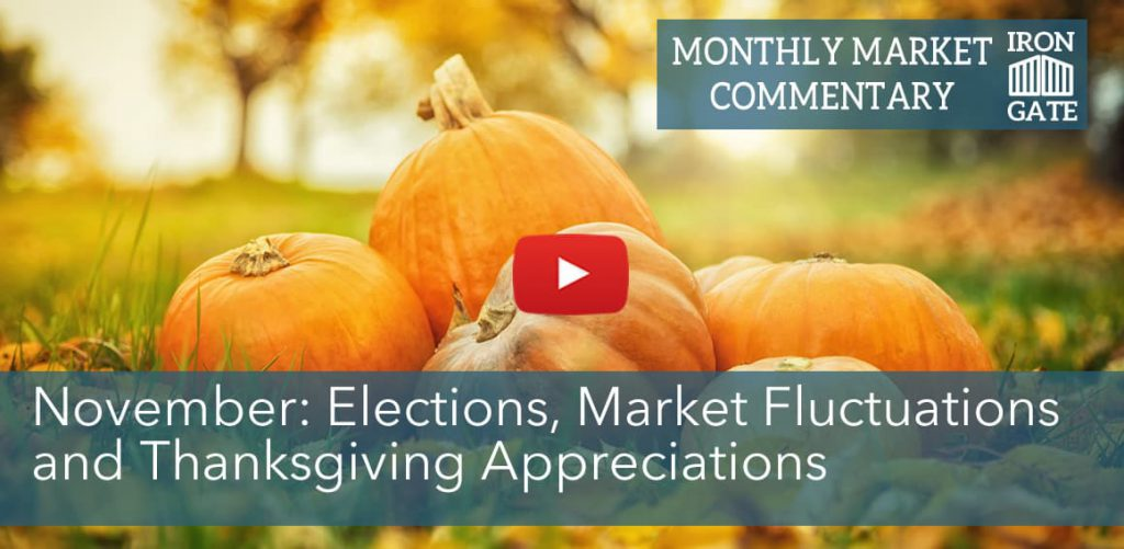 November: Elections, Market Fluctuations and Thanksgiving Appreciations