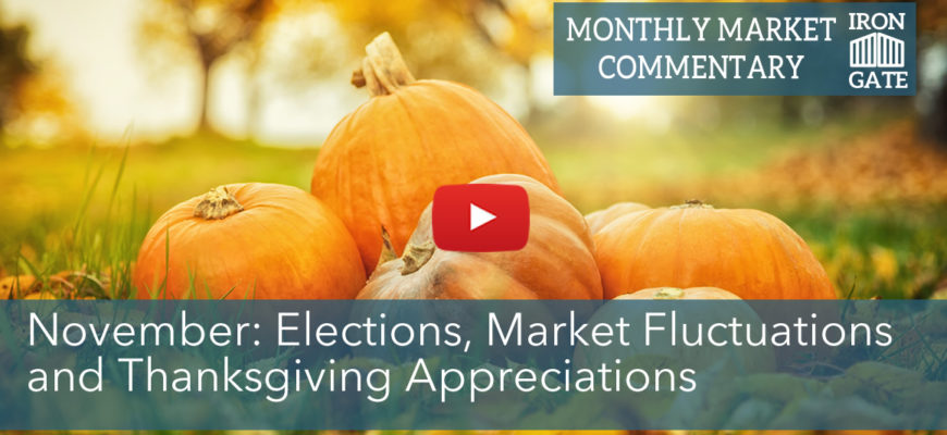 November Market Commentary: Elections, Market Fluctuations and Thanksgiving Appreciations