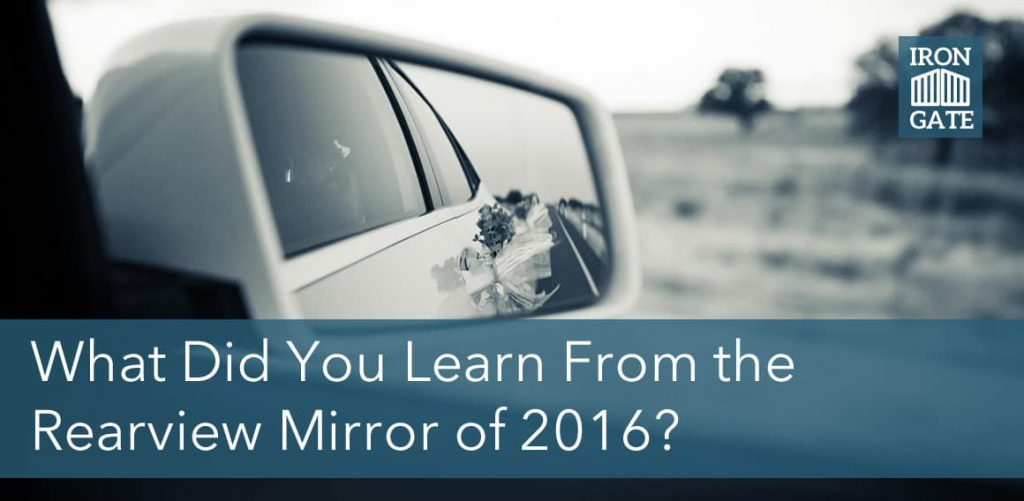 What Did You Learn From The Rearview Mirror of 2016