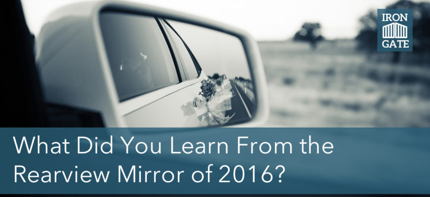What Can You Learn From the Rearview Mirror of 2016?