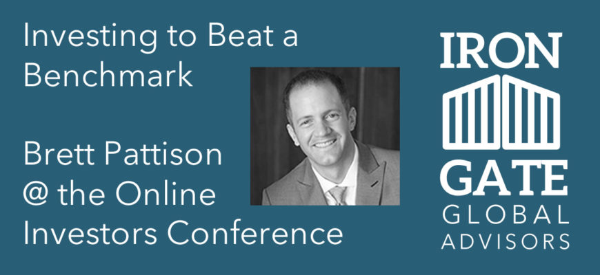 Investing to Beat a Benchmark: FREE Access to the Online Investors Conference Presentation