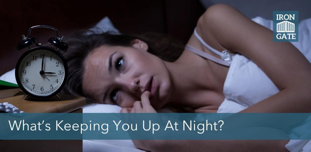 What is keeping you up at night? Financial future.