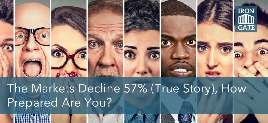 The markets decline 57% (true story) how prepared are you?