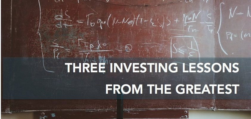 Three Investing Lessons from the Greatest