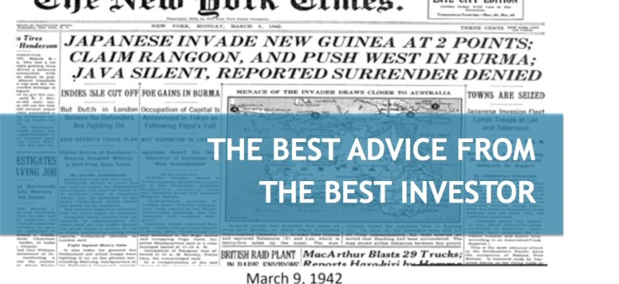 The best advice from the best investor
