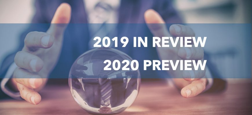 2019 in review, 2020 preview